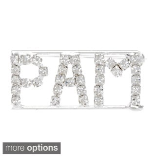 'P Collection' Crystal Name Pin