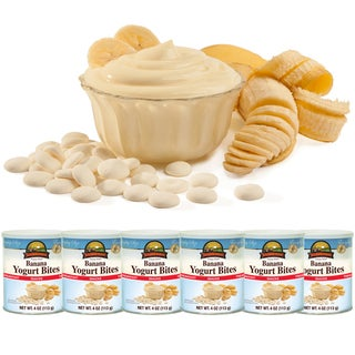 Augason Farms Freeze Dried Banana Yogurt Bites (Pack of 6)