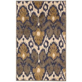 Kindred Ikat Print Multicolored Area Rug (5' x 7')
