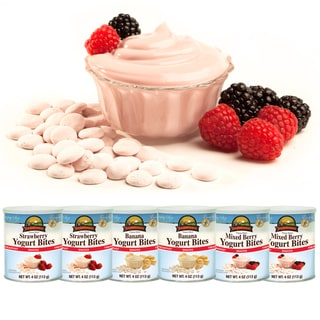 Augason Farms Freeze Dried Variety Yogurt Bites (Pack of 6)