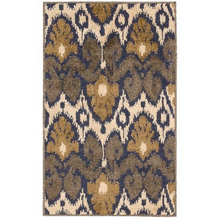 Kindred Ikat Print Multicolored Area Rug (2'3 x 3'9)