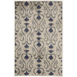 Kindred Damask Silver Area Rug (2'3 x 3'9)