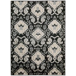 Kindred Ikat Print Black Area Rug (7'9 x 10')