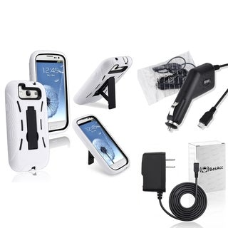 BasAcc Case/ Car Charger/ Travel Charger for Samsung Galaxy S III/ S3