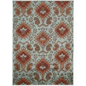 Kindred Ikat Print Aqua Area Rug (7'9 x 10')