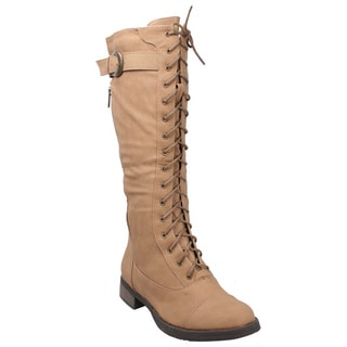 Refresh by Beston Women's 'Cici' Lace-up Combat Boots