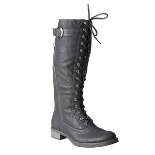 Refresh by Beston Women's 'Cici' Combat Boots
