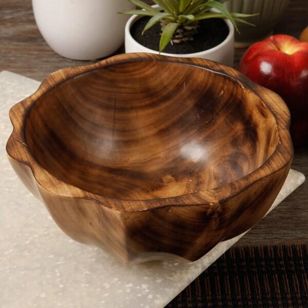Decorative Hand-Carved Wooden Bowl (Kenya)
