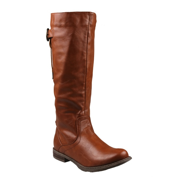 Refresh by Beston Women's 'Bailey-01' Knee-high Riding Boots