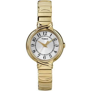 Timex Women's T2N978 Elevated Classics Dress Sunray Dial Expansion Band Watch