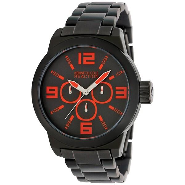 Kenneth Cole Men's RK3219 Black Aluminum Quartz Watch with Black Dial