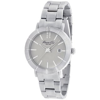 Kenneth Cole Women's KC4867 Silver Stainless-Steel Quartz Watch with Silver Dial