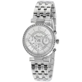 Kenneth Cole Women's KC4872 Silver Stainless-Steel Quartz Watch with Silver Dial
