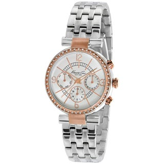 Kenneth Cole Women's KC4871 Silver Stainless-Steel Quartz Watch with White Dial