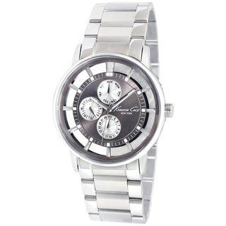 Kenneth Cole Men's KC9114 Silver Stainless Steel Quartz Watch with Silver Dial