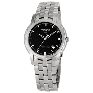 Tissot Men's 'T-Classic' Stainless Steel Black Dial Watch