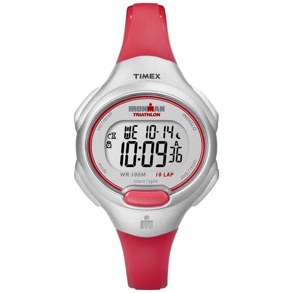 Timex Women's Ironman Traditional Orange 10-Lap Mid-Size Watch