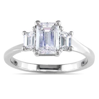 Miadora 14k White Gold 1ct TDW Certified Diamond Engagement Ring (E, SI1)