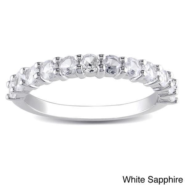 M by Miadora Sterling Silver Round-cut Gemstone Ring