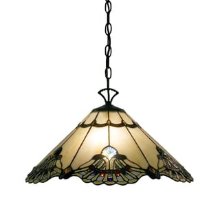 Tiffany-style Warehouse of Tiffany Courtesan Hanging Lamp