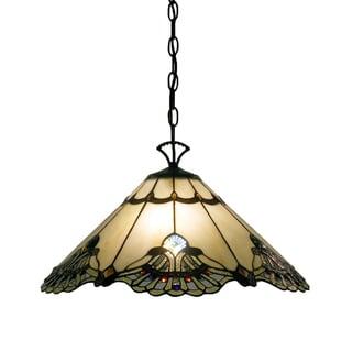Tiffany-style Warehouse of Tiffany Courtesan Hanging Lamp