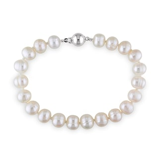 M by Miadora Sterling Silver Cultured Freshwater Pearl Bracelet (8-8.5 mm)
