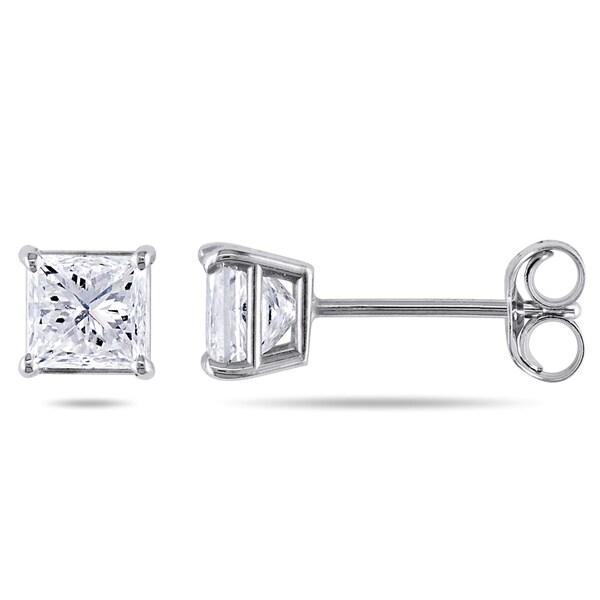 Miadora Signature Collection 14k White Gold 1ct TDW Diamond Earrings (H-I, SI1-SI2)