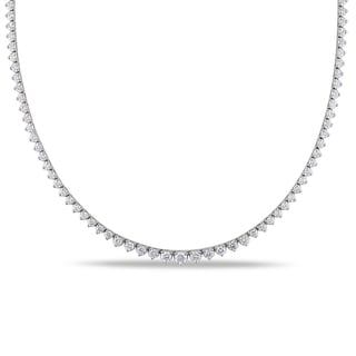 Miadora 14k White Gold 6 1/2ct TDW Diamond Tennis Necklace (G-H, I1-I2)