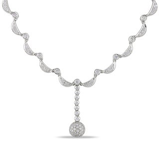 Miadora 14k White Gold 2 3/4ct TDW Diamond Necklace (G-H, SI1-SI2)