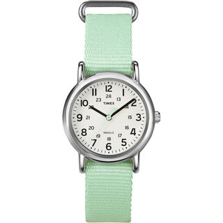 Timex Women's 'Weekender' Seafoam Green Nylon Strap Watch