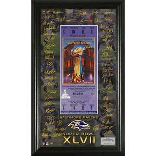 AFC Champions Super Bowl XLVII Signature Framed Ticket Holder
