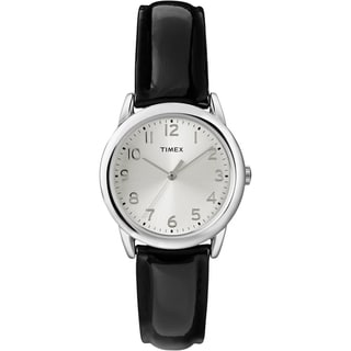 Timex Women's T2P119 Black Patent Leather Strap Watch