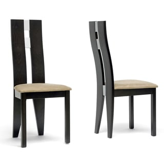 Baxton Studio Casablanca Dark Brown Modern Dining Chairs (Set of 2)