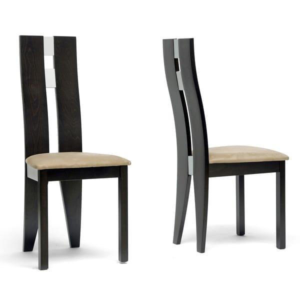 Baxton Studio Casablanca Dark Brown Modern Dining Chairs (Set of 2)