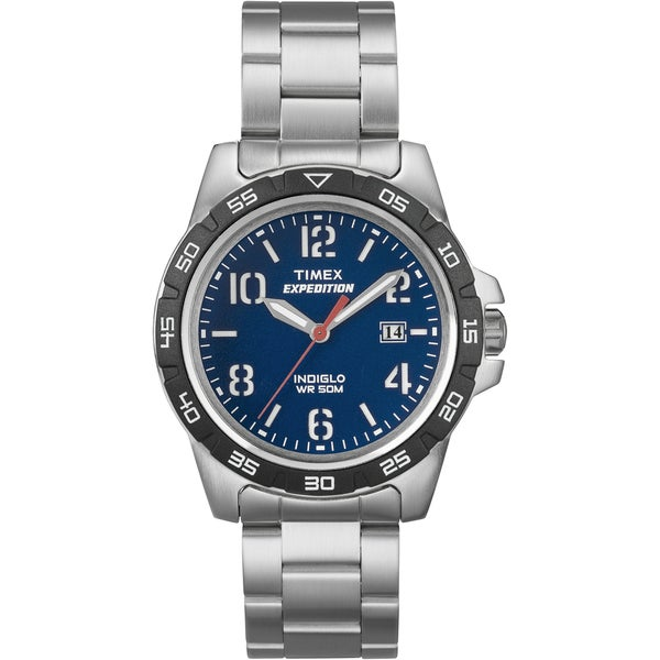 Timex Unisex T49925 Expedition Rugged Metal Field Stainless Steel Bracelet Watch