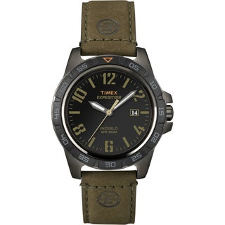 Timex Unisex T49926 Expedition Rugged Metal Field Brown Leather Strap Watch