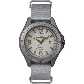 Timex Unisex Expedition Aluminum Camper Gray Nylon Watch