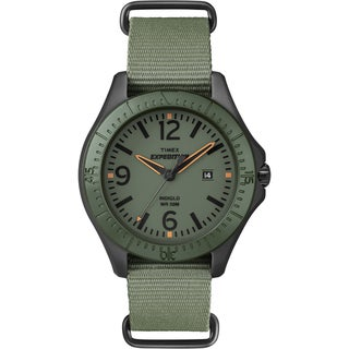 Timex Unisex Expedition Aluminum Camper Green Nylon Slip Thru Watch