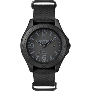 Timex Unisex Expedition Aluminum Camper Black Nylon Watch