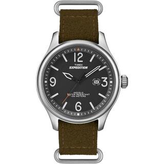 Timex Unisex T49935 Expedition Military Field Ultrasuede Slip Thru Strap Watch