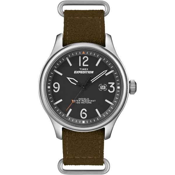 Timex Unisex T49935 Expedition Military Field Ultrasuede Slip Thru Strap Watch