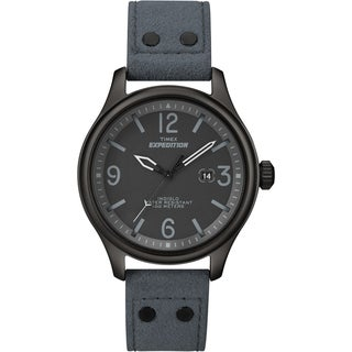 Timex Unisex T49937 Expedition Military Field Slate Blue Ultrasuede Strap Watch