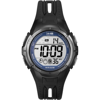 Timex Men's Sports Digital Black/Blue Resin Watch