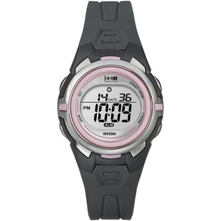 Timex Women's Sports Digital Gray/ Pink Resin Watch