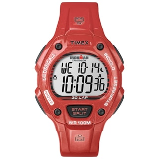 Timex Unisex Ironman Traditional 30-Lap Glimmer Grenadine Resin Watch