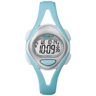 Timex Women's Ironman Sleek 50-Lap Pastel Mint Resin Watch
