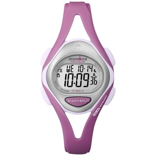 Timex Women's Ironman Sleek 50-Lap Pastel Pink Resin Watch