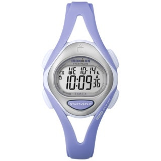 Timex Women's Ironman Sleek 50-lap Pastel Lilac Resin Watch