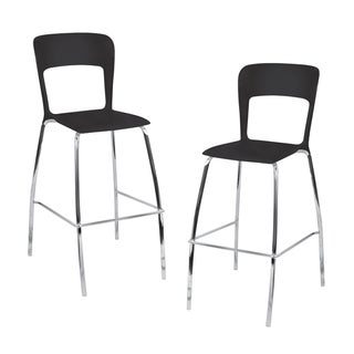 LumiSource Black Barstools (Set of 2)
