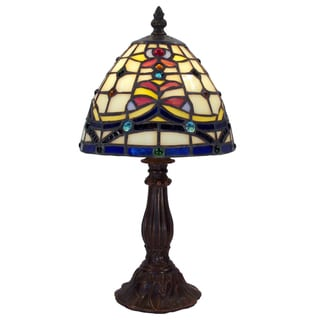 Tiffany-style Warehouse of Tiffany Posis Table Lamp